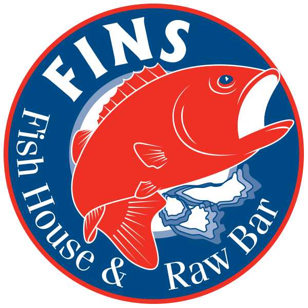 fins fish house and raw bar logo